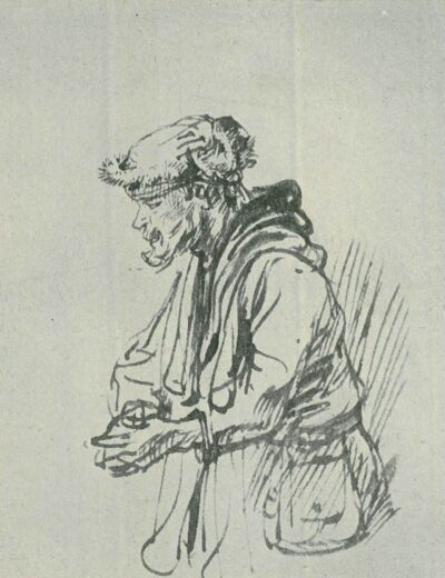 Rembrandt drawing, willem drost,
