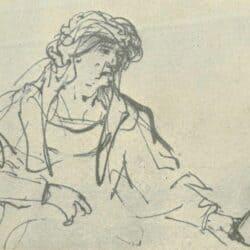 Rembrandt tekening,