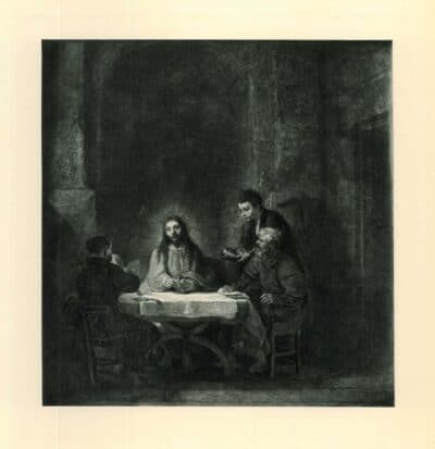 Rembrandt painting, The Supper at Emmaus