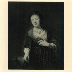 Rembrandt painting Saskia van Uylenburgh as Flora