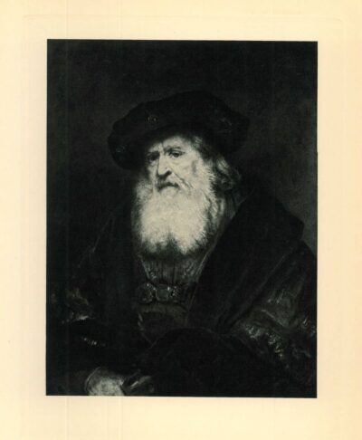 Rembrandt painting Bearded old man with a beret