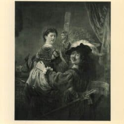 rembrandt painting Self portrait as the prodigal son with saskia