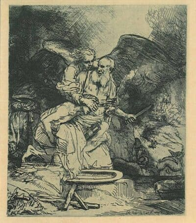 Rembrandt, Bartsch B. 35, Abraham's Sacrifice