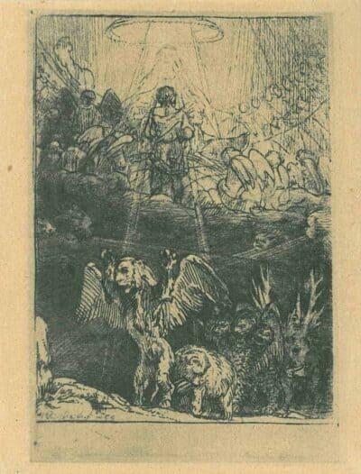 Rembrandt, Bartsch B. 36 b, The Judgement of Daniel