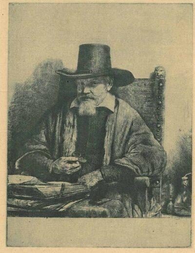 Rembrandt, Bartsch B. 284, De inspecteur Arnold Tholinx (?-1679)