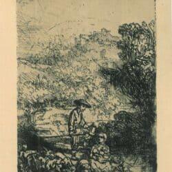 De schaapsherder en zijn familie, Rembrandt, Ets, Bartsch B. 220