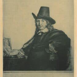De schilder Jan Asselijn (1610-1652) ['Crabbetje'], Rembrandt, Ets, Bartsch B. 277