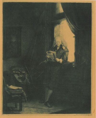 Rembrandt Ets, Portret van Jan Six, Bartsch B. 285