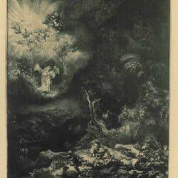 De Verkondiging aan de herders, Rembrandt, Bartsch, B.44