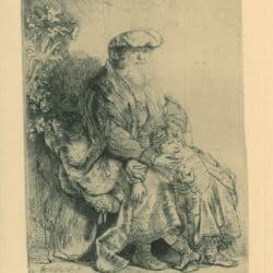 Jacob en Benjamin, Rembrandt, Bartsch, B. 331