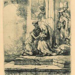 De thuiskomst van de verloren zoon, Rembrandt, Bartsch, B. 91