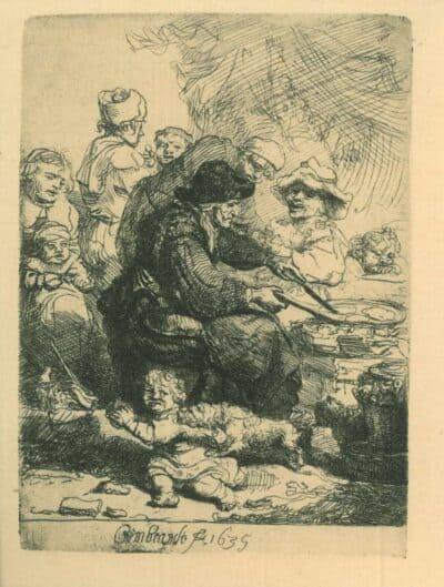 De pannenkoekenbakster, Rembrandt, Bartsch, B. 124