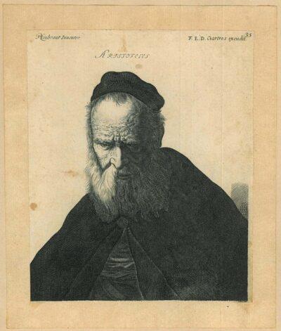 Jérôme David (1605-1670) engraver, after Rembrandt van Rijn, painter, Aristoteles