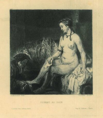 Charles Jean Louis Courtry (1846-1897) etching, after Rembrandt painting