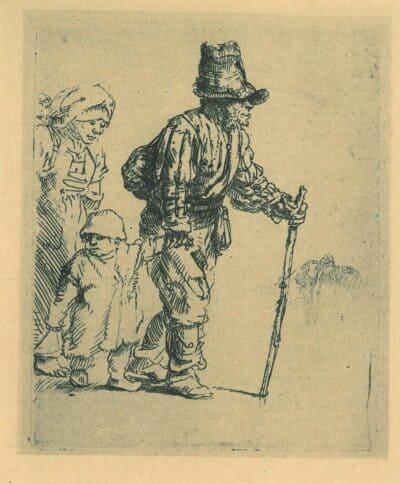 Rondtrekkende boerenfamilie, Rembrandt, Bartsch, B. 131