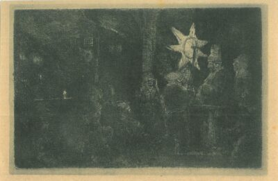 Driekoningen: een nachtstuk, Rembrandt, Bartsch, B. 113