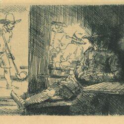 Het kolfspel, Rembrandt, Bartsch, B. 125