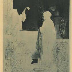 Een kunstenaar bezig met modeltekenen, Rembrandt, Bartsch, B. 192