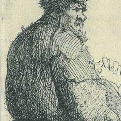 Rembrandt, etching, Bartsch B. 143,