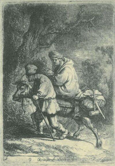Rembrandt, etching, Bartsch B. 52,