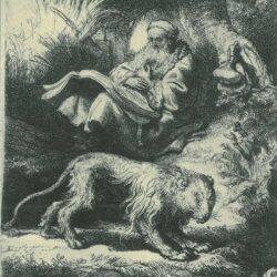 Rembrandt, etching, Bartsch B. 100,
