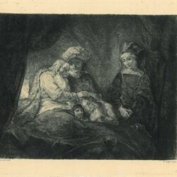 Rembrandt painting Jacob Blessing the Sons of Joseph
