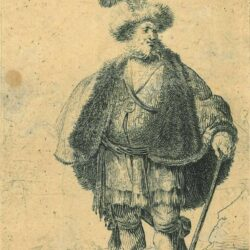 Rembrandt, etching, Bartsch b. 152, The Persian