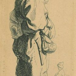 Rembrandt, etching, Bartsch B. 178, A peasant replying 'Dats niet'