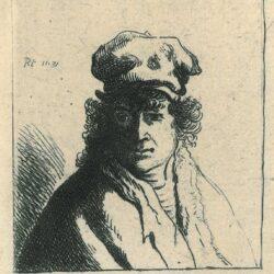 Rembrandt, Etching, Bartsch B. 322, New Hollstein 104, Young man with hat