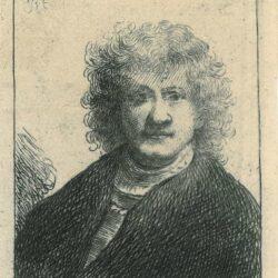 Rembrandt, Etching, Bartsch B. 4, New Hollstein 9, Self-portrait with a broad nose