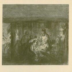 Rembrandt, tekening, De Aanbidding der Herders