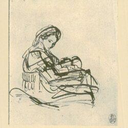 Rembrandt, tekening, Maria met het Christuskind