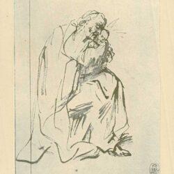 Rembrandt, tekening, hofstede de groot 212, simeon met het christuskind
