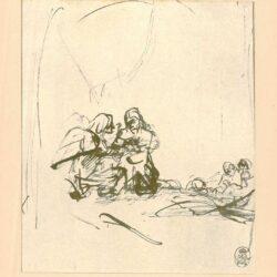 Rembrandt, tekening, hofstede de groot 220, Christus op de Olijfberg