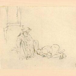 Rembrandt, tekening, hofstede de groot 231, Absalom buigt voor David
