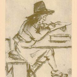 Rembrandt, tekening, hofstede de Groot 244,