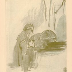 Rembrandt, tekening, hofstede de groot 251, de astronoom