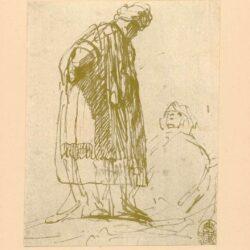 Rembrandt, tekening, hofstede de groot 252, Ruth en Boaz