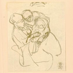Rembrandt, zeichnung, hofstede de groot 264, Mutter mit Wickelkind und ältere Frau