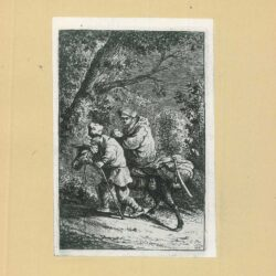 Rembrandt, etching, Bartsch B. 52, New Hollstein 117, copy f, The flight into Egypt: the small plate