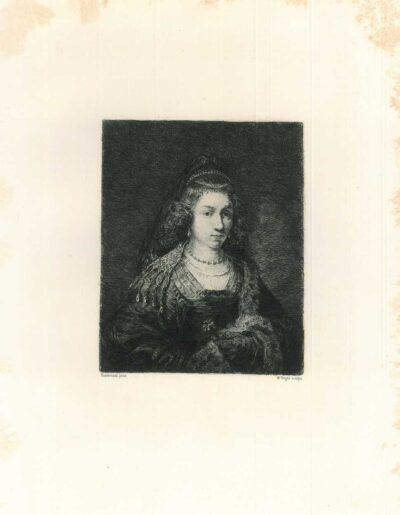 Rembrandt, Painting, Ferdinand Bol, Young woman holding a carnation
