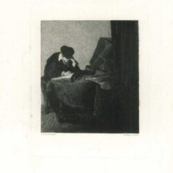 Rembrandt, painting, Young scholar reading in a study