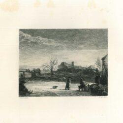 Rembrandt, painting, Winter landscape