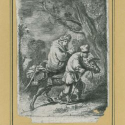 Rembrandt etching, Bartsch B. 52, copy in reverse, New Hollstein 117, The flight into Egypt: the small plate