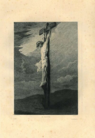 Rembrandt, painting, the cruxifixion