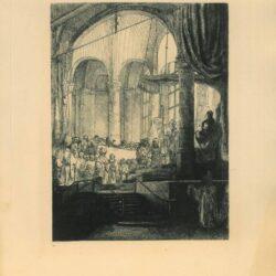 Rembrandt ets, Bartsch B. 112, Medea: of het huwelijk van Jason en Creüsa