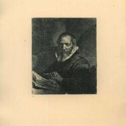 Rembrandt Etching, Bartch B. 266, Jan Cornelis Sylvius, preacher [1564-1638]