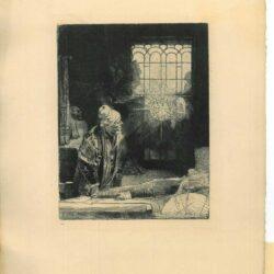 Rembrandt, etching, Bartsch B. 270, Doctor Fautrieus, Faust