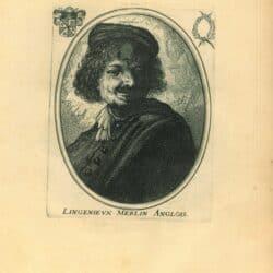 Rembrandt, etching, New Hollstein 70, copy b, Bartsch b. 316, Self portrait in a cap, laughing
