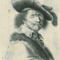 Rembrandt etching, Bartsch B. 19, New Hollstein 158, Anthony Cardon (1772 — 1813), Self portrait with Saskia